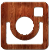 instagram wood logo