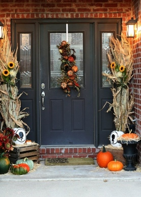 Decorated front door