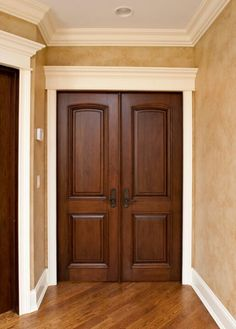 Door With Trim And Moulding