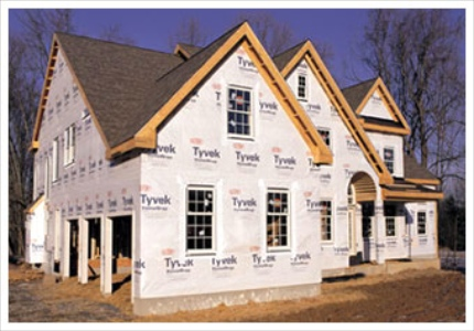Insulation drywall and housewrap overisel lumber for Sheathing house wrap